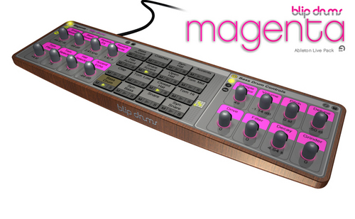 Product picture Blip Drums Magenta - A Drum Machine for Ableton Live